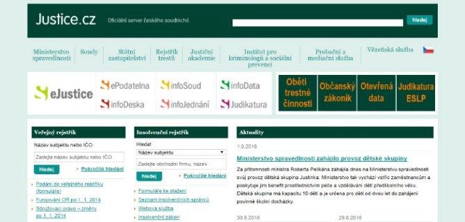 Justice - oficiální server českého soudnictví